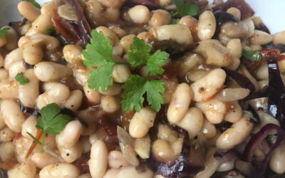 Cocido vegetariano de alubias
