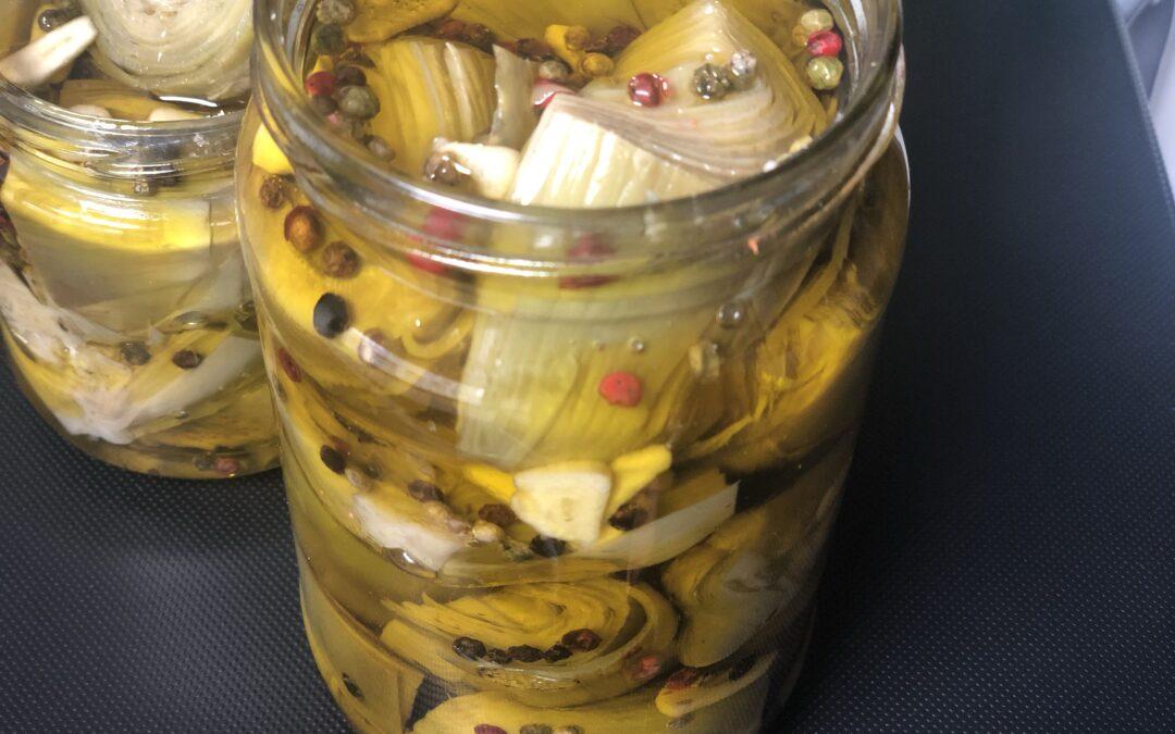 Alcachofas en conserva de aceite
