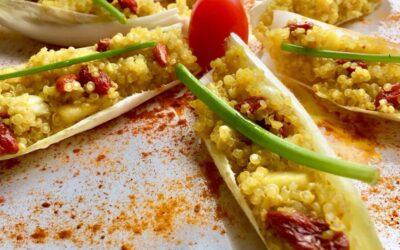 Pétalos de quinoa