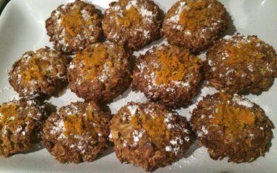 Galletas con avena, naranja y aguacate