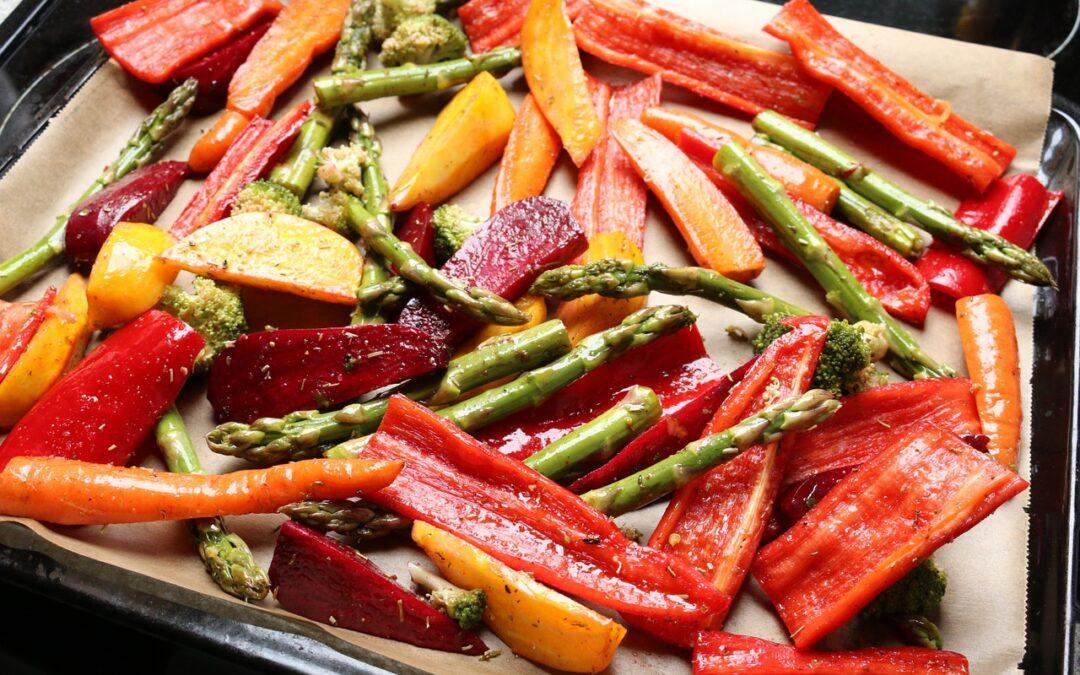 Guarnición saludable: verduras horneadas